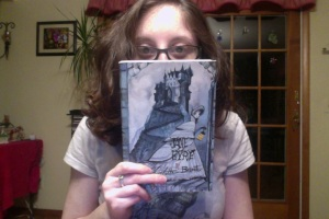Me with my mom's beautiful edition of Jane Eyre